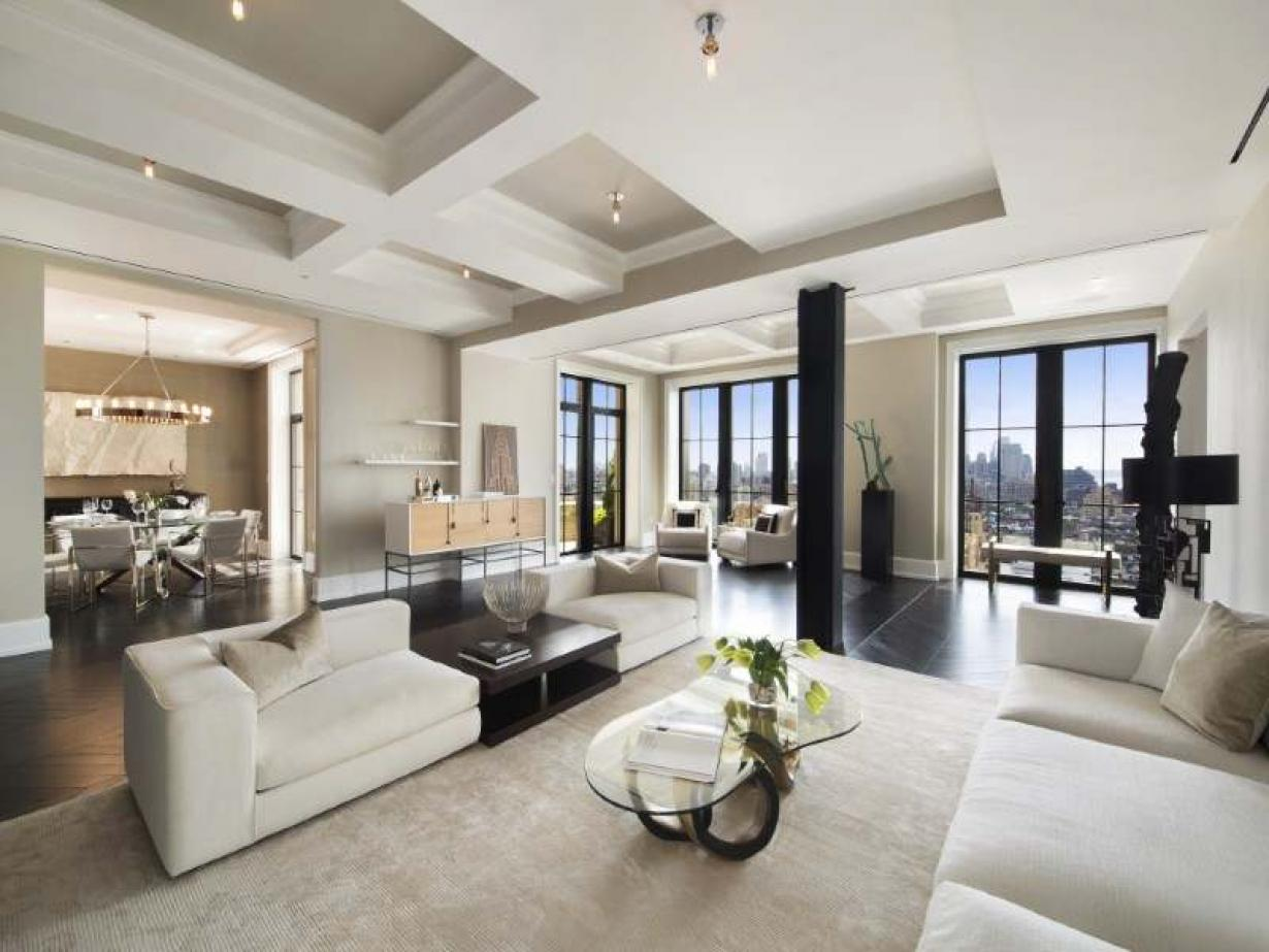 Luxury apartment interior - Luxurious Penthouse Apartment With Breathtaking Colour